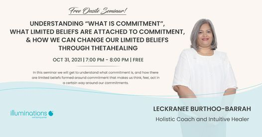 Free Onsite Seminar: Understanding How We Can Change Our Limited Beliefs Through Thetahealing