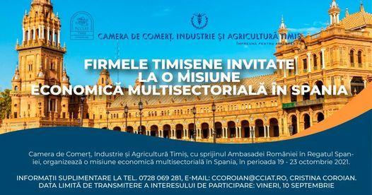 Firmele timi\u0219ene invitate la o misiune economic\u0103 multisectorial\u0103 \u00een Spania