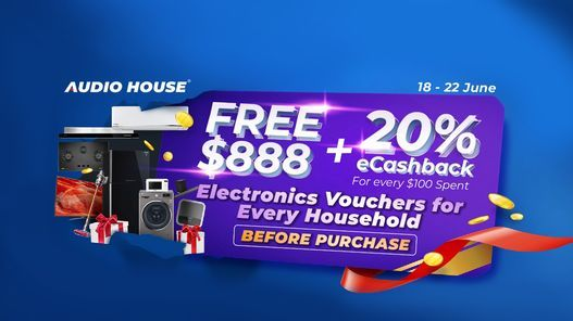 Audio House FREE $888 Vouchers Giveaway