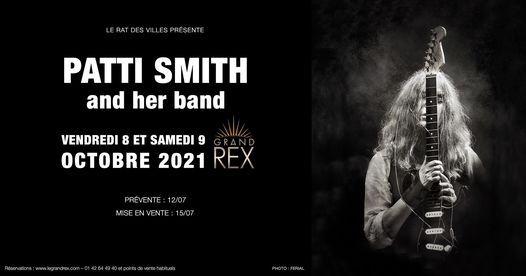 PATTI SMITH - Le Grand Rex (vendredi 8 et samedi 9 octobre 2021)