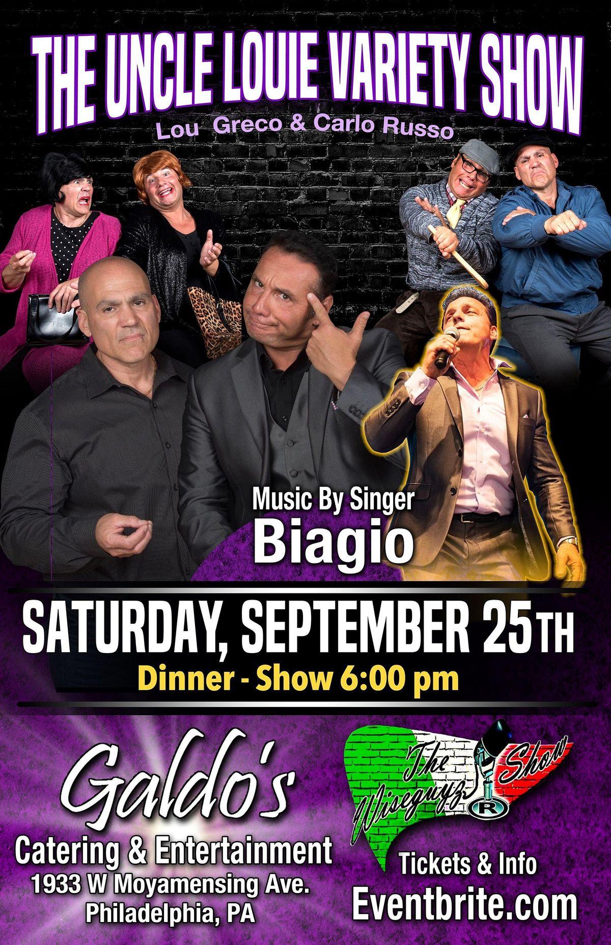 Uncle Louie Variety Show, Biagio & The Wiseguyz  Dinner-Show  Philadelphia.