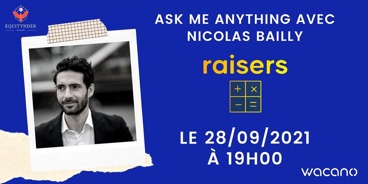 #Equitynder : AMA with Nicolas Bailly, leveur de fonds