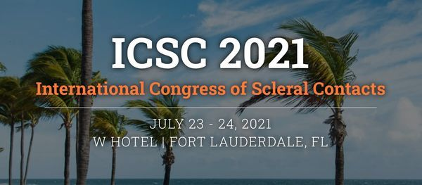 2021 International Congress of Scleral Contacts