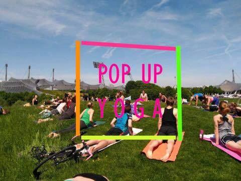POP UP YOGA im Olympiapark mit Steffi (mit Live-Stream f\u00fcr Zuhause)