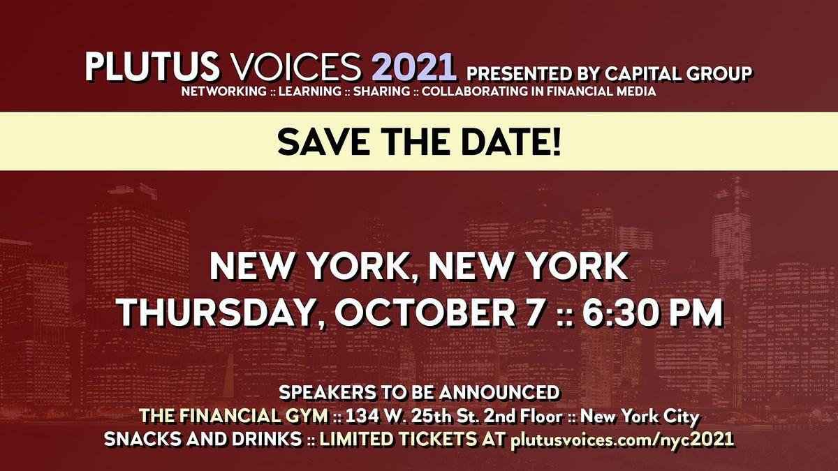 Plutus Voices NYC 2021