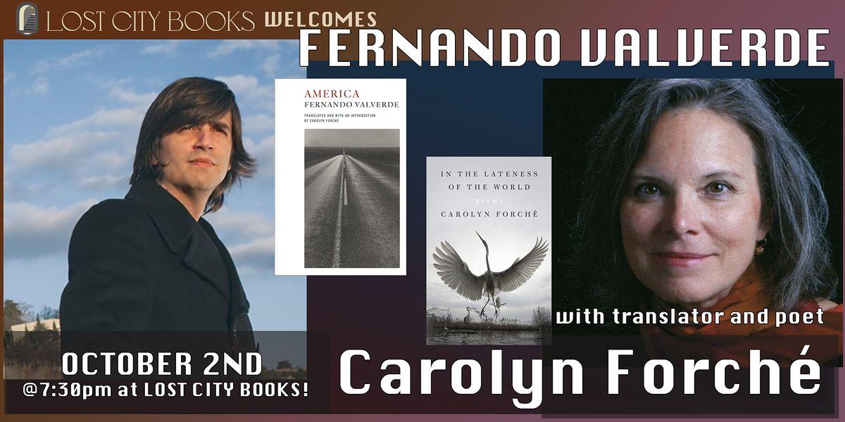 Fernando Valverde and Carolyn Forch\u00e9 at Lost City Books!