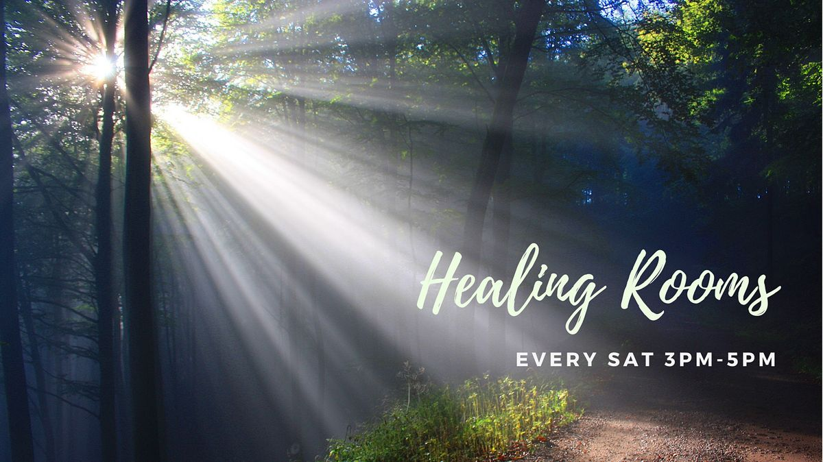 HEALING ROOMS 3-5pm. Every Saturday (except Public Holidays) 2021.
