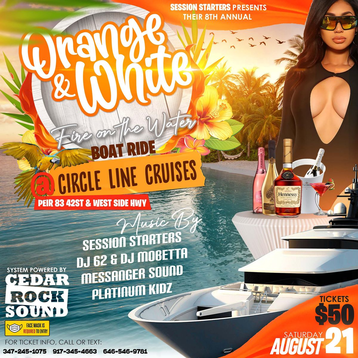 Orange & White Boatride