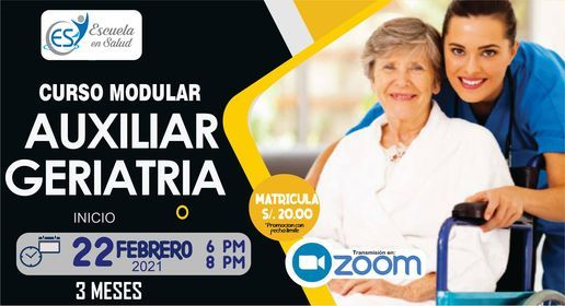 Curso Modular Auxiliar De Geriatria Escuela En Salud Miraflores 22 February 2021