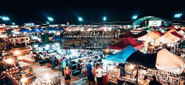 Sommernachtsflohmarkt M\u00fcnchen 2021
