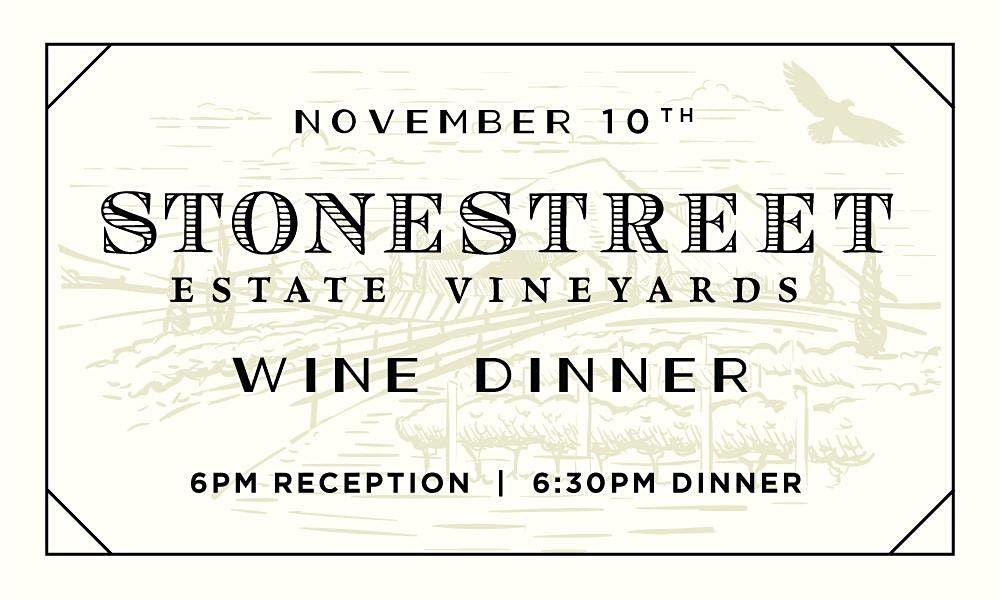 Stonestreet Pairing Dinner at Heaton's Vero Beach!