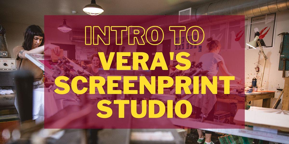 Intro to Vera's Screenprint Studio (SP 101)