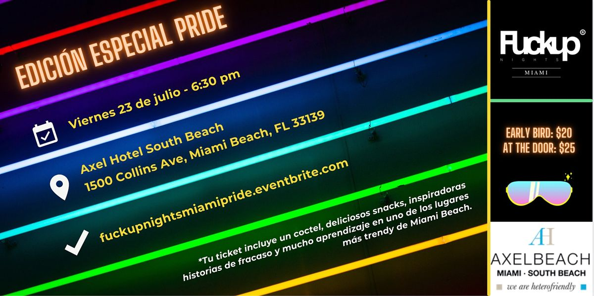 Fuckup Nights Miami Vol. V - Edici\u00f3n Pride