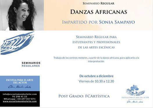 Danzas Africanas - Seminario Regular por Sonia Sampayo