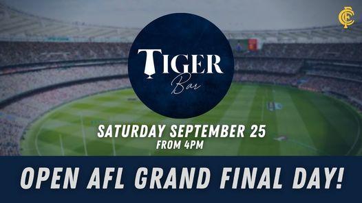 AFL GRAND FINAL AT THE TIGER BAR