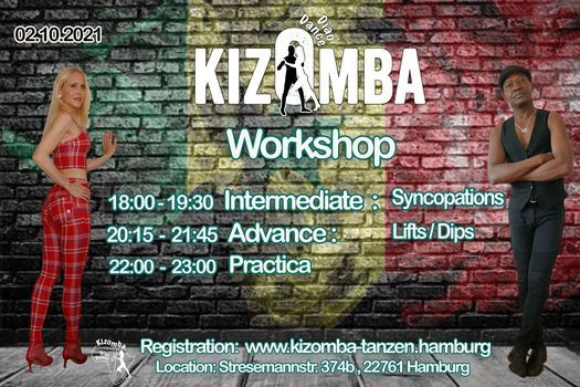 Kizomba Workshop *Advance + Intermediate* Lifts\/Dips\/Syncopation
