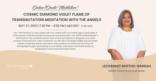 Online\/Onsite Meditation: Cosmic Diamond Violet Flame Of Transmutation Meditation With The Angels