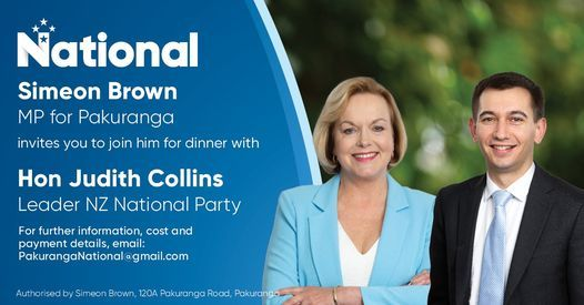 Dinner with Judith Collins