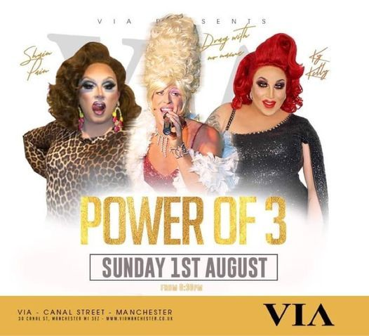 The Power of Three with Shania Pain, KY Kelly and Drag with No Name