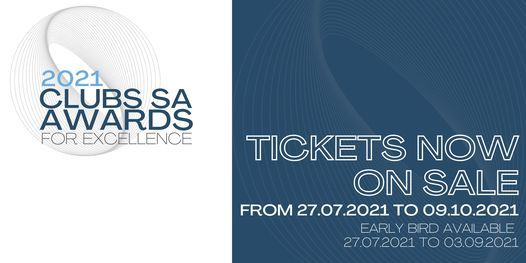 Clubs SA 2021 Annual Awards for Excellence Gala Dinner