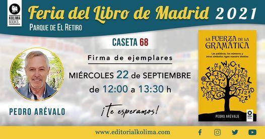 PEDRO AR\u00c9VALO FIRMA EN FERIA DEL LIBRO MADRID