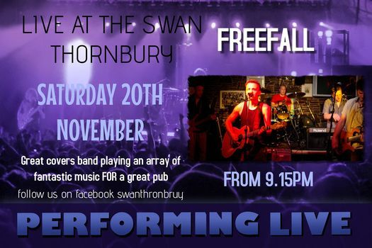 FREEFALL ARE BACK PLAYING LIVE AT THE SWAN THORNBURY