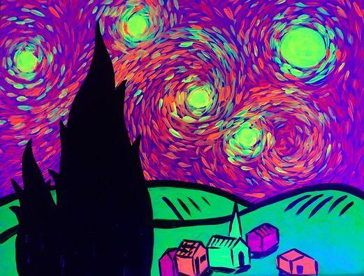Paint & Wine Night - A Glowy Night