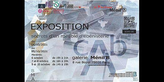 """Exposition """"Secrets d'un meuble d'\u00e9b\u00e9nisterie"""" par les BMA \u00e9b\u00e9nistes du LPMA\/Ecole Boulle - M\u00e9nil'8"""