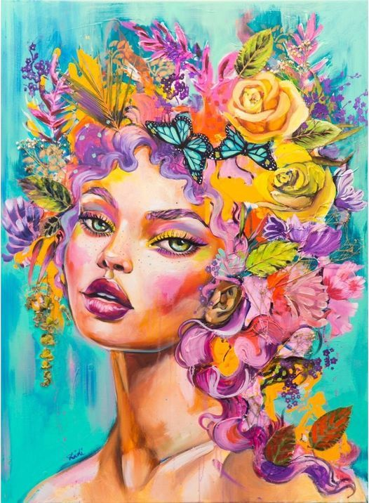 """Spray Paint Class: Faces with Diana """"Didi"""" Contreras"""