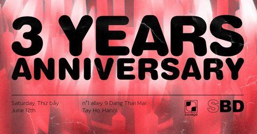 SBD: 3 Years Anniversary