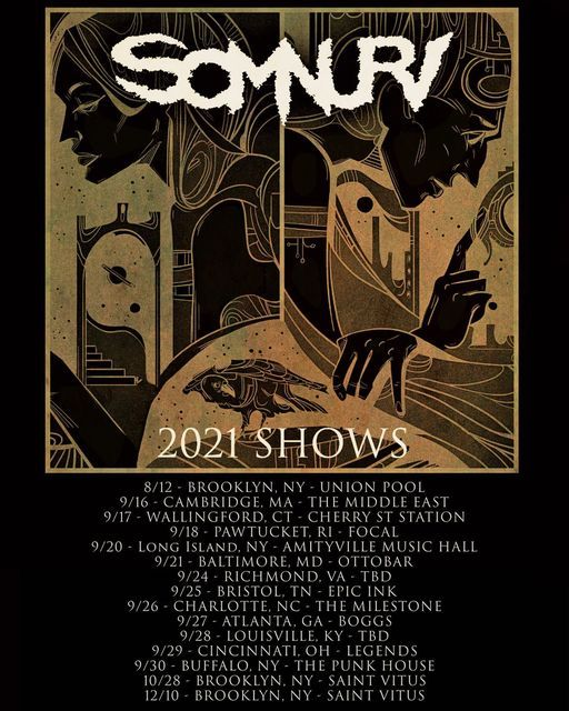 SOMNURI w\/ AND I BECOME DEATH & ANGEL MASSACRE at The Milestone on Sunday September 26th 2021
