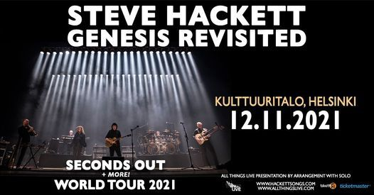 Steve Hackett Genesis Revisited - 12.11.2021 Kulttuuritalo