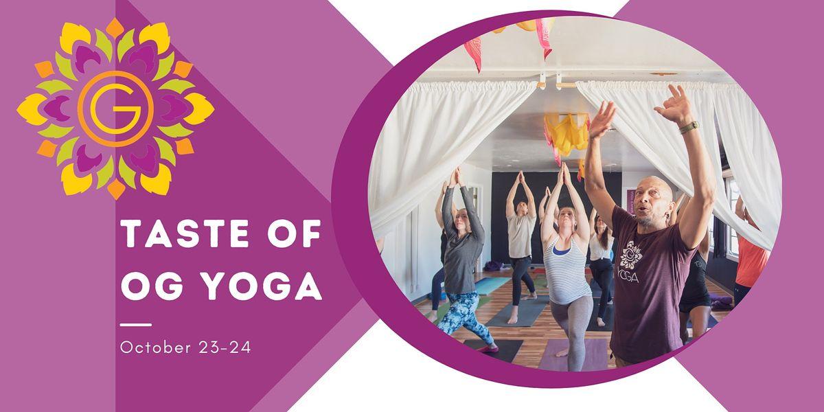 Taste of OG Yoga: Celebrating 6 Years of Service