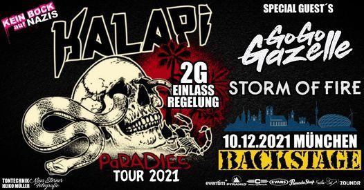 Kalapi Paradies Tour 2021 l Backstage M\u00fcnchen