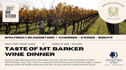 Taste of Mt. Barker WINE DINNER
