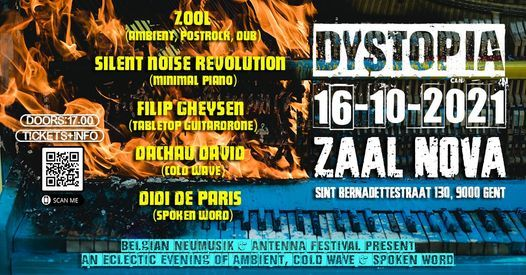 Belgian NeuMusik presents Dystopia 2021 (An Eclectic Evening of Ambient, Cold Wave & Spoken Word)