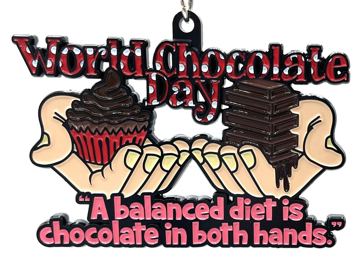 2021 World Chocolate Day 5K 10K 13.1 26.2-Participate from Home. Save $5!