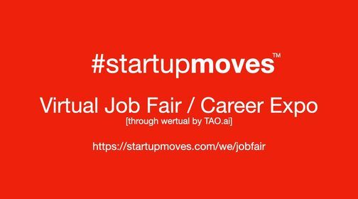 StartupMoves Virtual Job Fair \/ Career Expo Startup Founder
