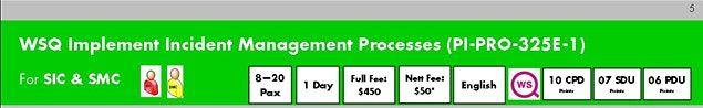 WSQ Implement Incident Management Processes (PI-PRO-325E-1)  Run 193