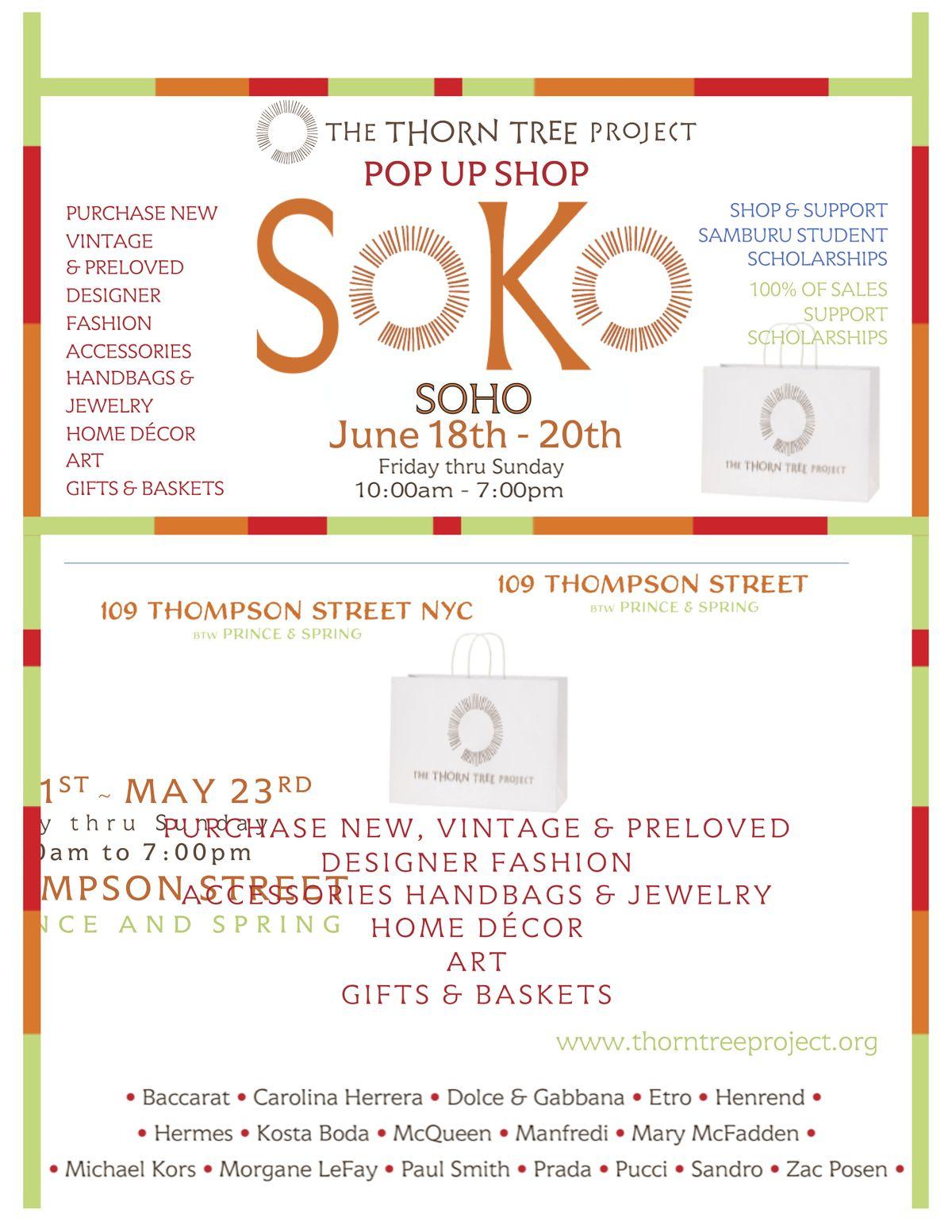 Shop *SOKO* Soho Pop Up Shop for Samburu Student Scholarships!