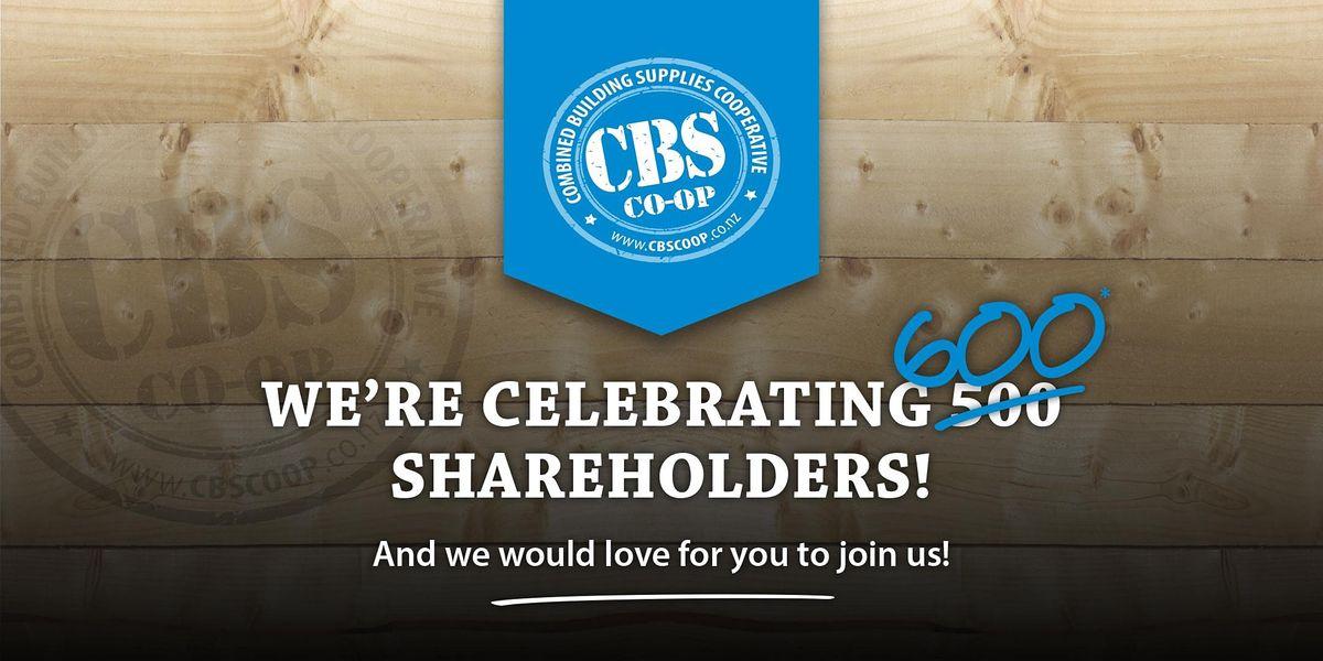 CBS Celebrates 500 Shareholders