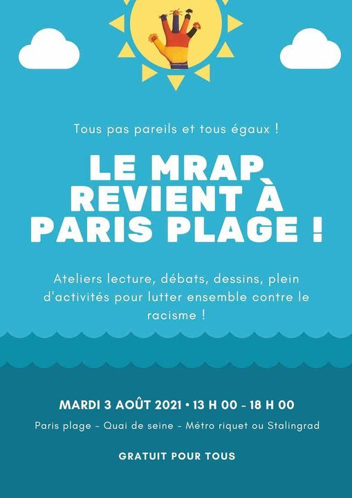 Le MRAP de retour \u00e0 Paris Plage