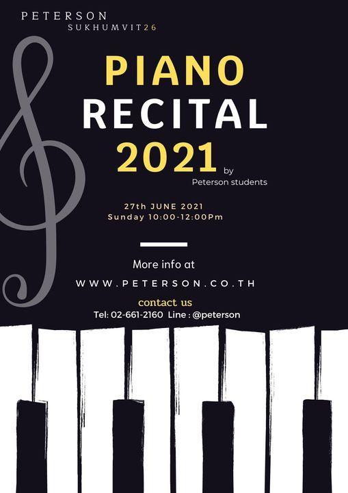 Piano Recital 2021 Concert
