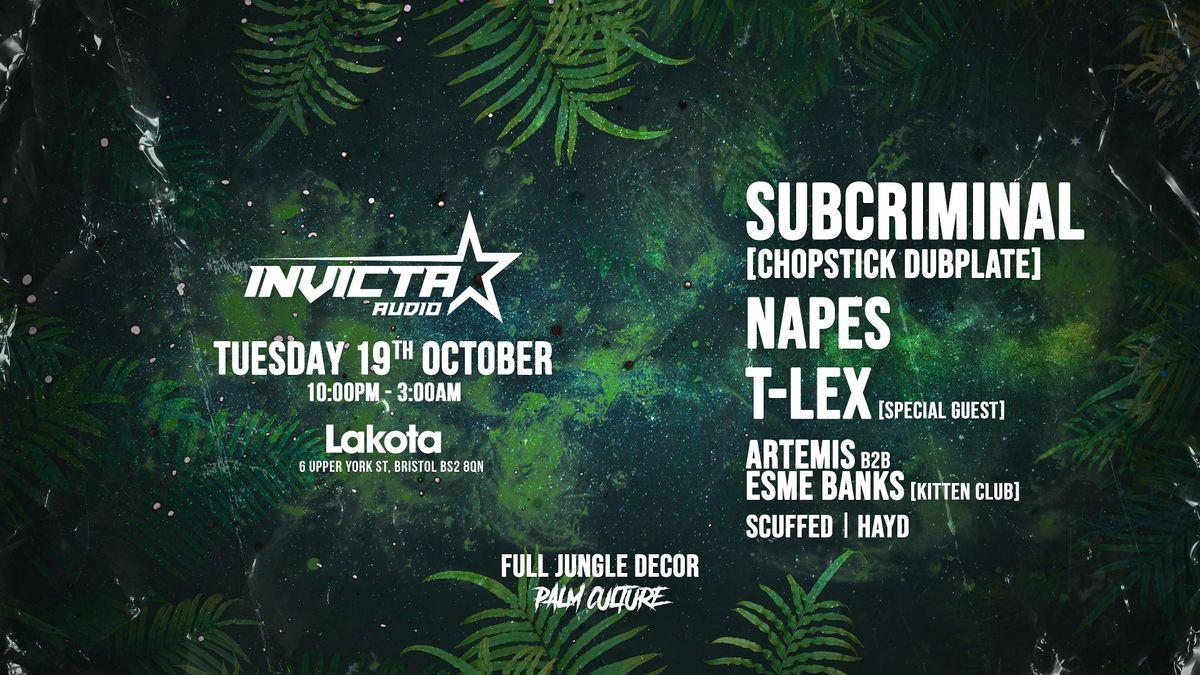 Shutdown x Invicta Audio: Chopstick Dubplate, Napes, Artemis, Scuffed