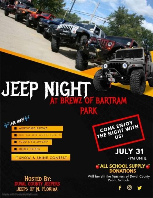 Duval County Jeepers + Jeeps of North Florida Presents.. JEEP NIGHT!
