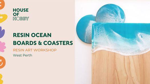 Resin & Ros\u00e9 - Ocean Boards & Coasters