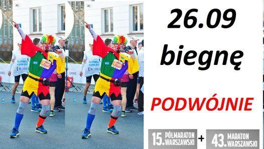 26 wrze\u015bnia biegn\u0119 PODW\u00d3JNIE, czyli... ultramarato\u0144skie #BiegamDobrze w Warszawie