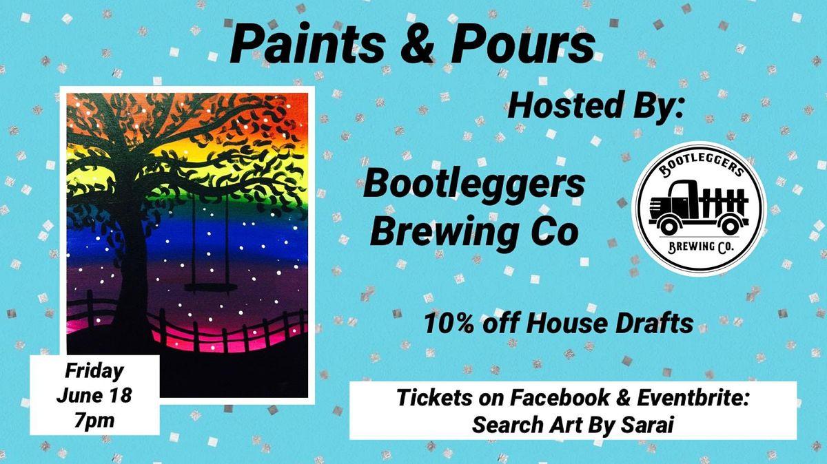 Paints & Pours: Rainbow Tree