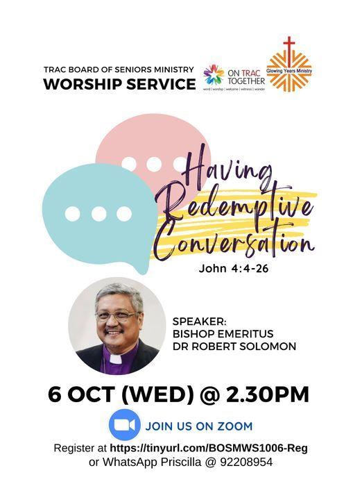 TRAC BOSM MIDWEEK WORSHIP SERVICE - HAVING REDEMPTIVE CONVERSATIONS