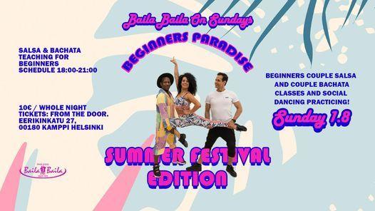 Baila Baila On Sundays \u2013 Beginners Paradise Summer Festival Edition